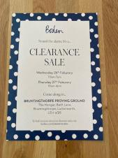 Boden Sale at BPG