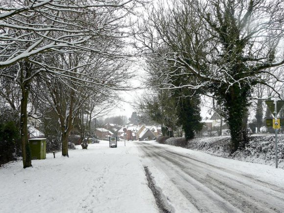 Welford Road and Back Lane, Snow 2018