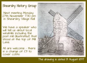 History group meeting - Leicestershire Wind and Water Mills